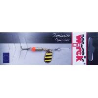 WR/4014 Rotativa Wirek Round/1.9g/galbena cu dungi negre