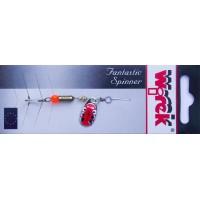 WR/4016 Rotativa Wirek Round/1.9g/rosie cu ochi negrii