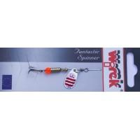 WR/4105 Rotativa Wirek Hopper/1.9g/argintie cu dungi rosii